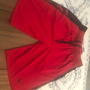 Nike Boys size S red shorts